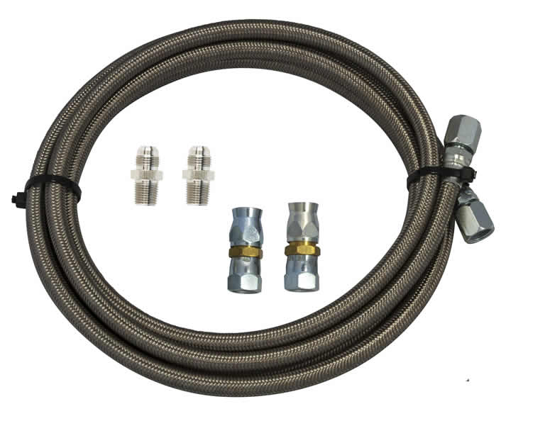 Braided Coolant Lines : Bowler chrysler and braided cooler line kit