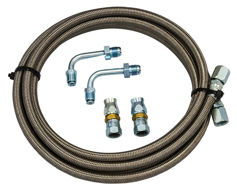 Braided Coolant Lines : Bowler ford braided cooler line kit transmission parts