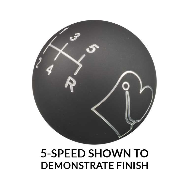 5-Speed Matte Gray Shift Knob
