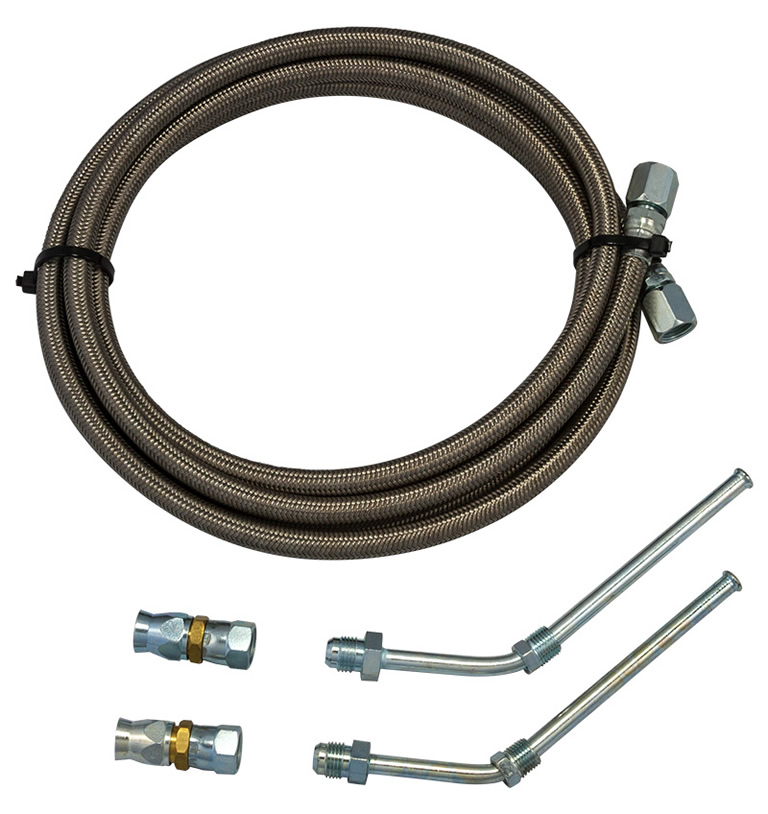 Braided Coolant Lines : Bowler gm braided cooler line kit transmission parts