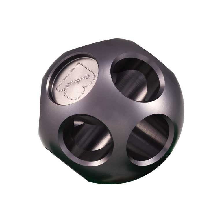 Bowler Multi-Hole Gloss Gray Anodized Shift Knob