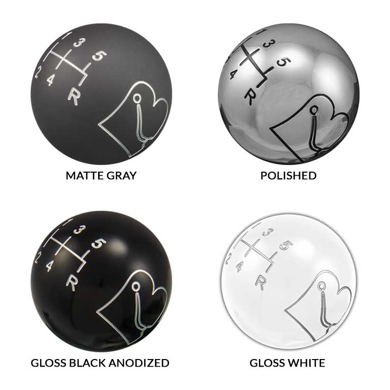 Bowler Solid Shift Knob Finishes