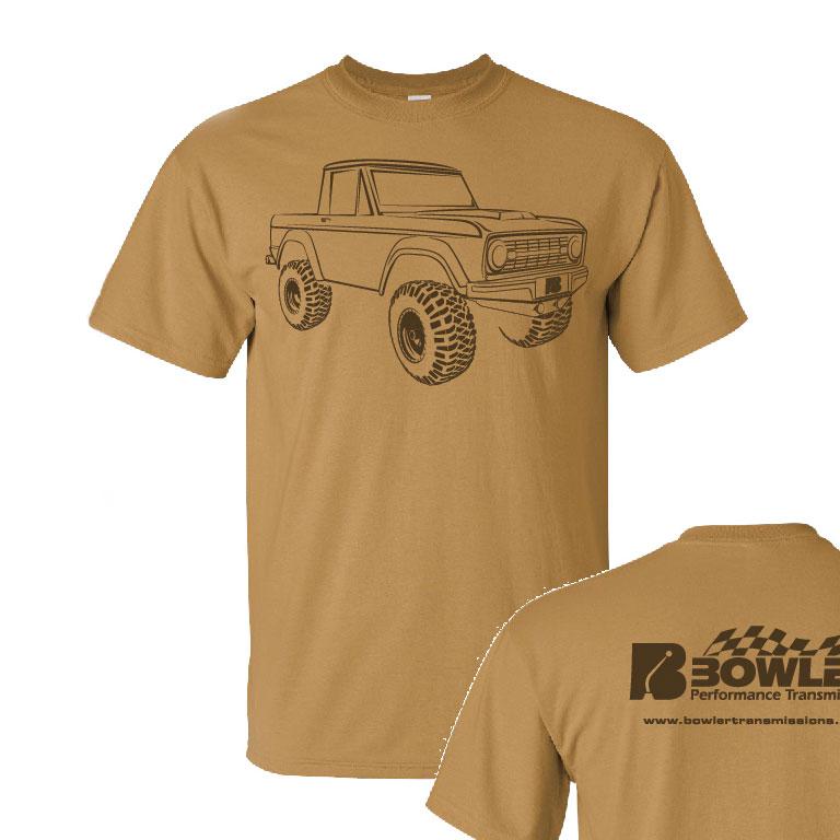 Bowler T-Shirt Tan Front