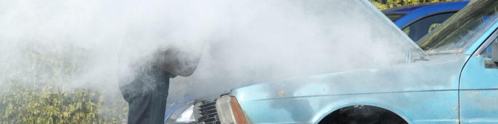 Blue Car Overheating