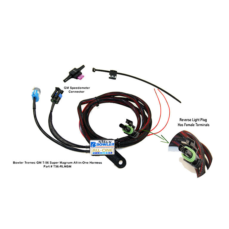 tremec t 56 magnum all in one wiring harness with reverse lockout rh bowlertransmissions com