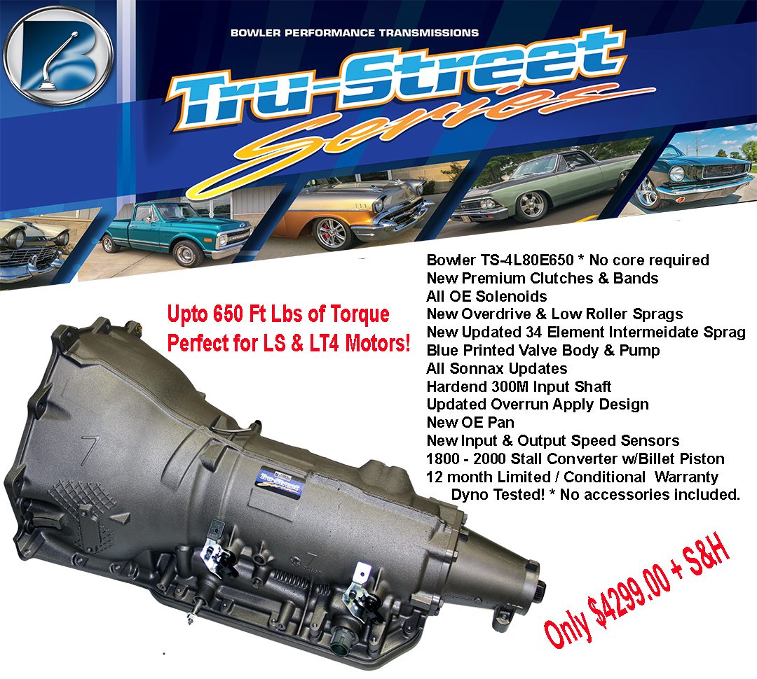 Bowler Tru-Street 4L80-E Performance Transmission & Converter Only (Up to  650 lb-ft of Torque)